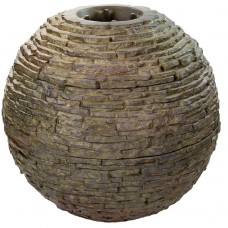 Сфера-излив из искусственного камня AquaScape Stacked Slate Sphere Small