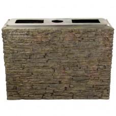 Блок для создания водопада AquaScape Straight Stacked Slate Wall Base Large