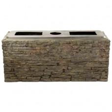 Блок для создания водопада AquaScape Straight Stacked Slate Wall Base Small