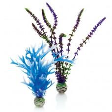 Декоративный элемент для аквариума biOrb Plant set medium blue & purple